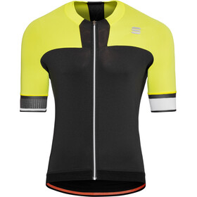 Sportful Strike Jersey Herren black/tweety yellow